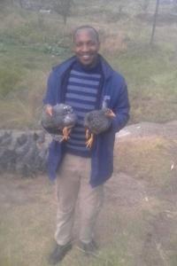 Mr Lekanyane wird zum Hühnerzüchter :-)